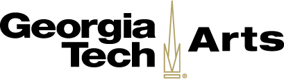 Georgia Tech Arts with the outline image of the campinile