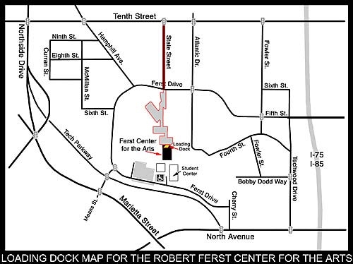Map of Ferst Center