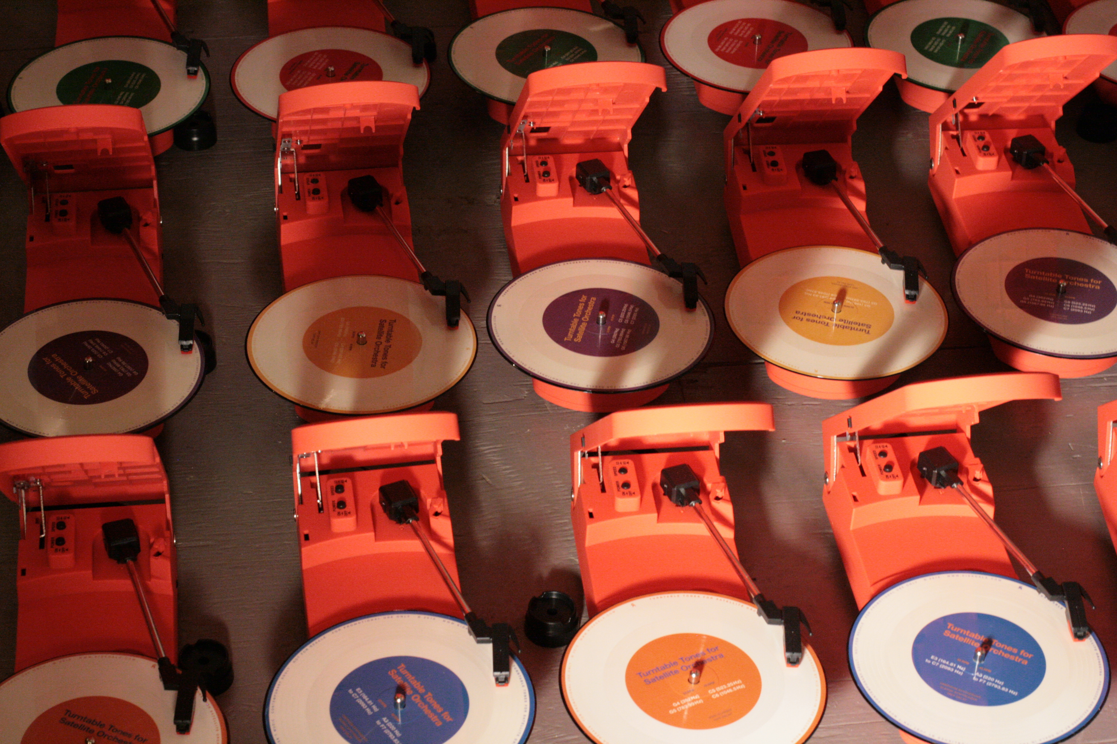 image of turntables used in Kid Koala's Satellite Orchestra