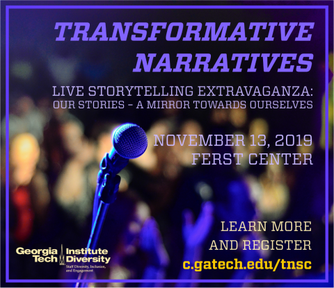 Transformative Narratives. Live Storytelling Extravanganza: Our Stories - A Mirror Towards Ourselves. November 13, 2019 at 11 am at the Fert Center for the Arts