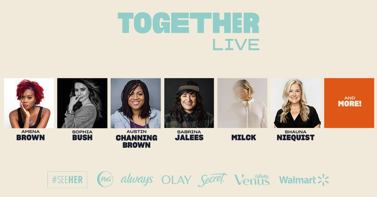 Together Live with Amena Brown, Sophia Bush, Austin Channing Brown, Sabrina Jalees, MILCK, Shauna Niequist, and more